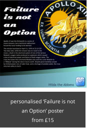 personalised 'Failure is not an Option' poster from £15