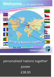 personalised 'nations together' poster £38.00