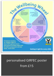 personalised GIRFEC poster from £15