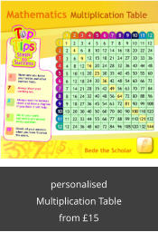 personalised Multiplication Table from £15