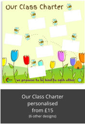 Our Class Charter personalised from £15 (6 other designs)