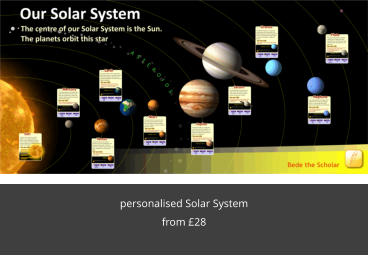 personalised Solar System from £28